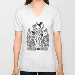 Profane and the Sacred (Tree and Crows) Unisex V-Neck