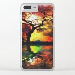 Stillwater Sunrise Clear iPhone Case