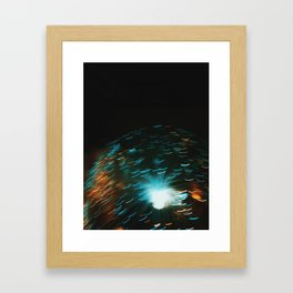 Lights Framed Art Print