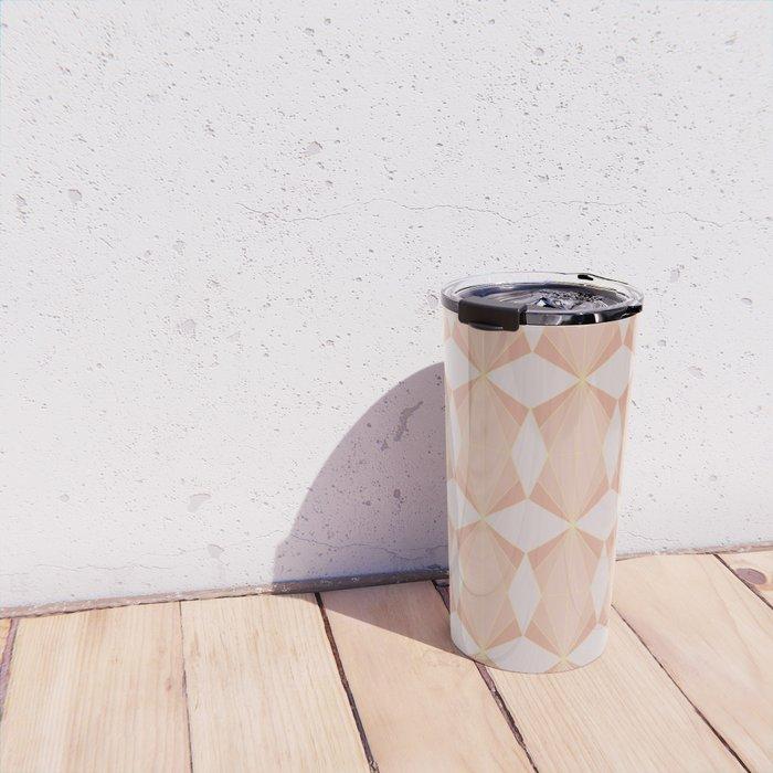 geometry art decó in pink and mauve Travel Mug