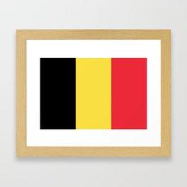 Flag of Belgium Black Yellow Red Framed Art Print