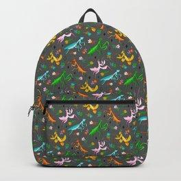 An Unordinary Array of Praying Mantises - Grey Backpack