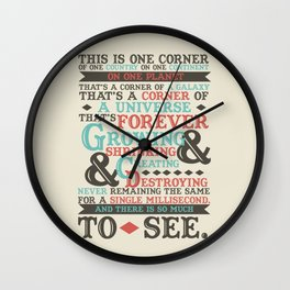 There Is So Much To See Wall Clock