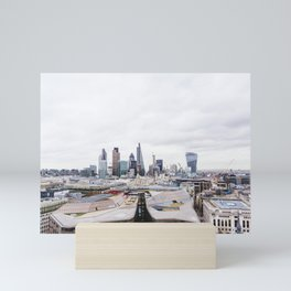City View of the Financial District of London from St. Paul's Cathedral Mini Art Print