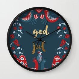 God Jul Wall Clock