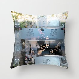 Summer space, smelting selves, simmer shimmers. [extra, 9] Throw Pillow