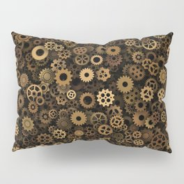Steampunk cogwheels Pillow Sham