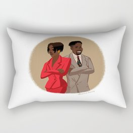 Maxine Shaw and Kyle Barker / Living Single Rectangular Pillow