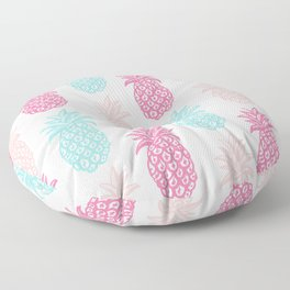 Pineapple Summer (pink and blue) Floor Pillow