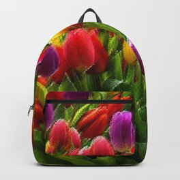 The Dutch Golden Age of Tulips, A Still Life by Jeanpaul Ferro Backpack
