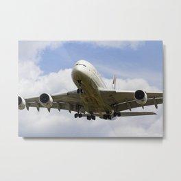 Etihad Airbus A380 Metal Print