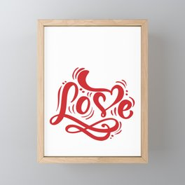 Hearts Day February 14th Valentines Day Feb 14 All I Need Is Love Framed Mini Art Print
