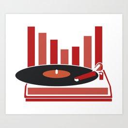 Love Vinyl Art Print