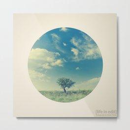 Circular Tree Metal Print