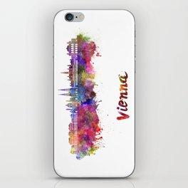 Vienna skyline in watercolor iPhone Skin