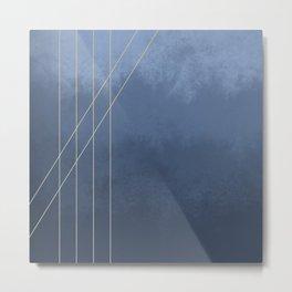 Moods in Blue-Gray Metal Print