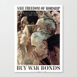 Save Freedom Of Worship Canvas Print