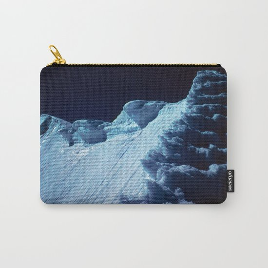 NATURE'S WONDER #2 - Glacier in the dark #art #society6 Carry-All Pouch