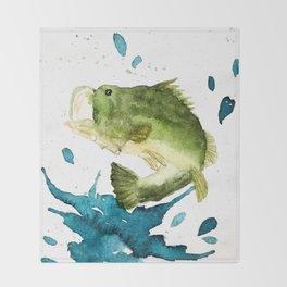 Bass Fishin' Throw Blanket