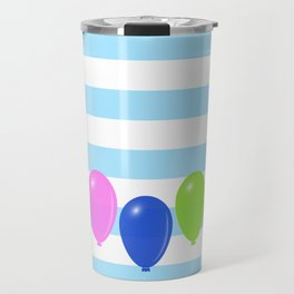Balloons on striped background Travel Mug