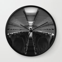 Interieur of airplan Wall Clock