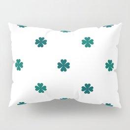 Saint Patrick Shamrock Clove Seamless Pattern Pillow Sham