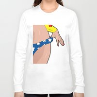 superhero Long Sleeve T-shirts featuring superhero by mark ashkenazi