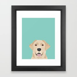 Yellow Lab dog portrait labrador retriever dog art pet friendly Framed Art Print