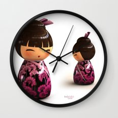 Kokeshi 05 Wall Clock