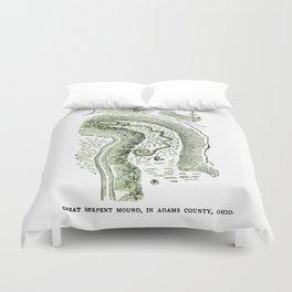 Great Serpent Mound Duvet Cover