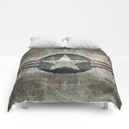 Stylized US Air force Roundel Comforters