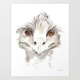 Who Emu? Art Print
