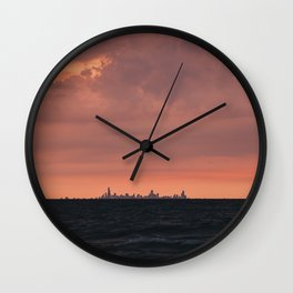 City On The Lake Wall Clock