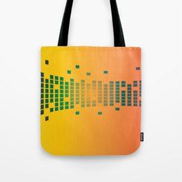 GREEN TILES ON A YELLOW BACKGROUND Abstract Art Tote Bag