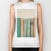 literary Biker Tanks featuring Literary Gems I by Laura Ruth