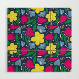 Floral Festival Wood Wall Art