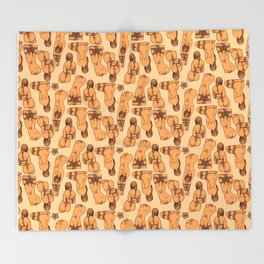 Snare a Rabbit Throw Blanket