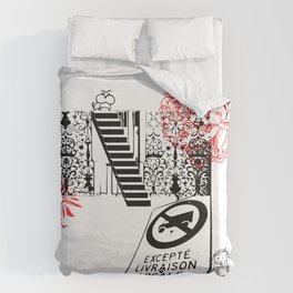 Stepping Up - What do you read from the street? Duvet Cover