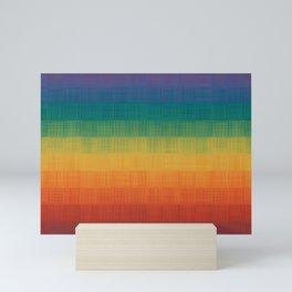 Colorful Grunge Texture Pattern Seamless Abstract Rainbow Multi Colored Illustration Mini Art Print