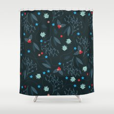 xmas pattern Shower Curtain