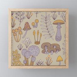 Wild Mushrooms in Purple Framed Mini Art Print