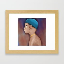 Gangsta boy Framed Art Print