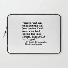 Excitement in her voice ― Fitzgerald quote Laptop Sleeve
