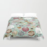 shells Duvet Covers featuring Shells by Krystal Smith