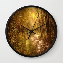 The Colors of Fall Wall Clock