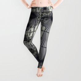 Black Rum Glass Collage Leggings