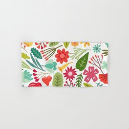 Cute Vector Floral Pattern Hand & Bath Towel
