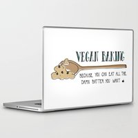 baking Laptop & iPad Skins featuring Vegan Baking Because You Can Eat All The Damn Batter You Want by Samantha Turnbull