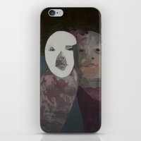 twins iPhone & iPod Skins featuring Twins by Embla Øverbye