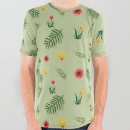 Countryside ferns All Over Graphic Tee